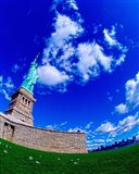 Low angle view of a statue, Statue Of Liberty, Manhattan, Liberty Island, New York City, New York State, USA