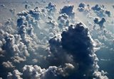 Aerial view of the cloud formations