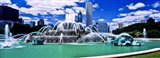 Buckingham Fountain in Grant Park, Chicago, Cook County, Illinois, USA