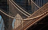 Close-up of the Brooklyn Bridge, New York City, New York State
