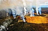Steam erupting from a volcano, Kilauea, Kauai, Hawaii