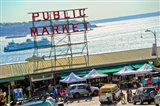 People in a public market, Pike Place Market, Seattle, Washington State, USA