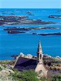 La Trinite Chapel at Ile-De-Brehat archipelago, Cotes-d'Armor, Brittany, France