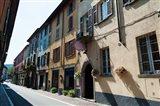 Houses along a street, Cernobbio, Como, Lombardy, Italy