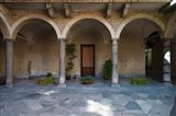 Courtyard of a building, Como, Lombardy, Italy