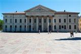 Facade of a theatre, Teatro Sociale, Como, Lombardy, Italy