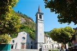 Church on main square, Varenna, Lake Como, Lombardy, Italy