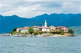 Town on an Island, Isola dei Pescatori, Stresa, Lake Maggiore, Piedmont, Italy