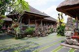 Inner grounds of the 1950's Pura Taman Saraswati temple, Ubud, Bali, Indonesia