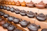 Rows of Chinese Teapots, Chinatown, Singapore