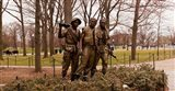 The Three Soldiers bronze statues at The Mall, Washington DC, USA