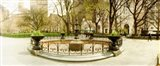 Fountain in Madison Square Park in the spring, Manhattan, New York City, New York State, USA