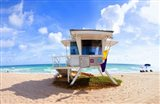 Lifeguard hut on the beach, Fort Lauderdale, Florida, USA