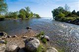 Beaver River flowing into Georgian Bay, Thornbury, Ontario, Canada