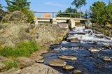 Water falling through dam, Moon River Dam, Moon River, Bala, Ontario, Canada