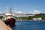 Ship at a harbor, Parry Sound Harbor, Parry Sound, Ontario, Canada