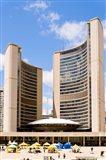 Facade of a government building, Toronto City Hall, Nathan Phillips Square, Toronto, Ontario, Canada