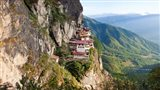 Monastery on mountain, Taktsang Monastery, Paro Valley, Paro District, Bhutan