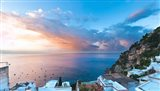 Sunset in Positano, Amalfi Coast, Italy