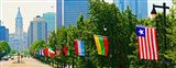 National Flags of the Countries at Benjamin Franklin Parkway, Pennsylvania
