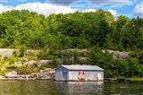 Old Metal Boathouse, Lake Muskoka, Ontario, Canada