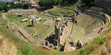 Ruins of Roman Theater, Volterra, Tuscany, Italy