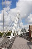Golden Jubilee Bridge, Thames River, London, England