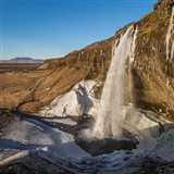 Seljalandsfoss Waterfall in the Winter, Iceland