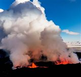 Volcano Eruption at the Holuhraun Fissure, Bardarbunga Volcano, Iceland.