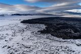 Lava and Snow at the Holuhraun Fissure, Bardarbunga Volcano, Iceland.