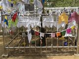 Prayer flags at the Great Monastery, Anuradhapura, North Central Province, Sri Lanka