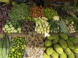 Vegetables for Sale on Main Street Market, Galle, Southern Province, Sri Lanka