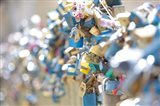 Abundance of Love Padlocks on Railings, Prague