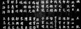 Close-up of Chinese ideograms, Beijing, China BW
