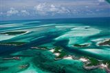 Aerial View of Island in Caribbean Sea, Great Exuma Island, Bahamas