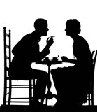 1920s 1930s Silhouette Of Couple Sitting?