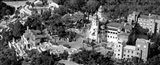 Aerial view of a castle on a hill, Hearst Castle, San Simeon, California