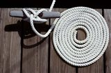 1980s Detail Of Cleat Hitch And Coiled Rope