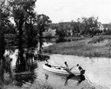 1930s 1940s Pair Of Boys In Rowboat