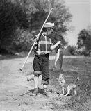 1950s Boy Plaid Shirt Sailor In Hat