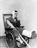 1930s Man In Wheelchair