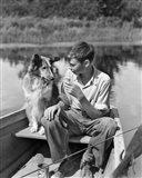 1930s Boy And Collie Dog