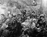 1880S Illustration Crowded Passenger Car