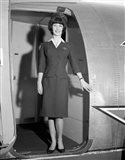 1960s Smiling Stewardess Standing In Doorway