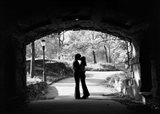 1960s Silhouette Of Young Couple