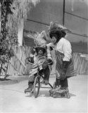 1930s Two Chimpanzees Monkeys