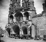 1930s Laon Cathedral Constructed In 12Th And 13Th