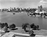 1950s Lake Merritt In Foreground Skyline View