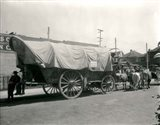 1920s Ox Drawn Conestoga Covered Wagon