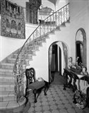 1920s Interior Staircase Wrought Iron Railing